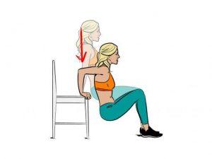 entrenamiento funcional fondos para tríceps