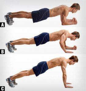 entrenamiento funcional planchas abdominales