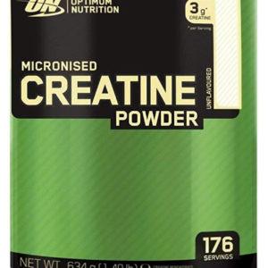 Optimum Nutrition ON Creatina Monohidrato Micronizada, Creatine en Polvo, Suplementos Deportivos para Musculacion, Sin Sabor, 176 Porciones, 634g