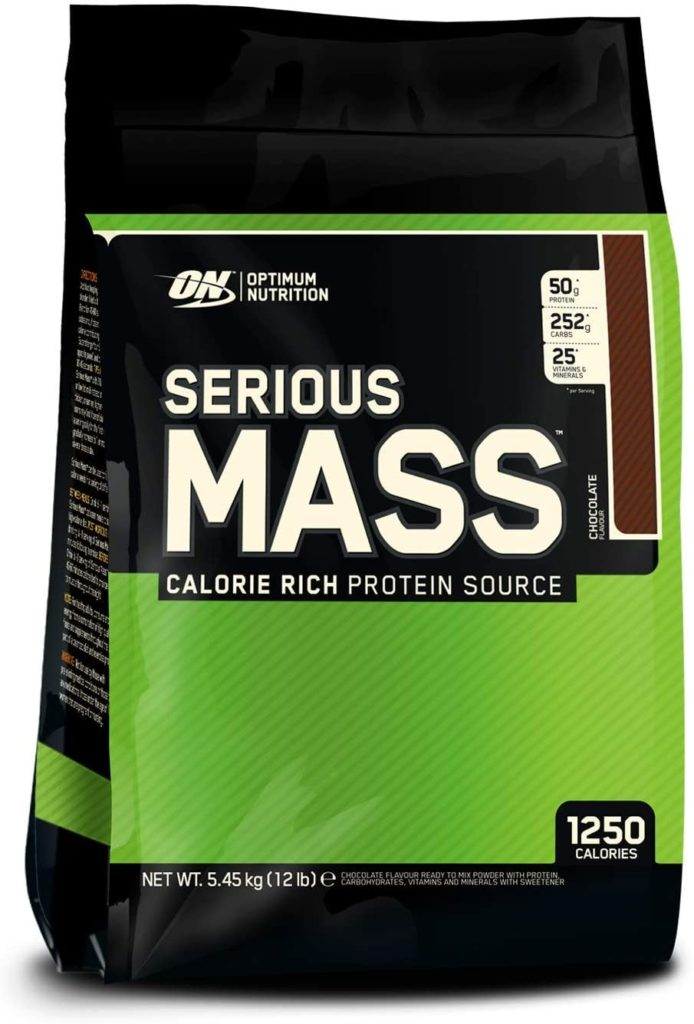 Optimum Nutrition ON Serious Mass proteina en polvo mass gainer alto en proteína