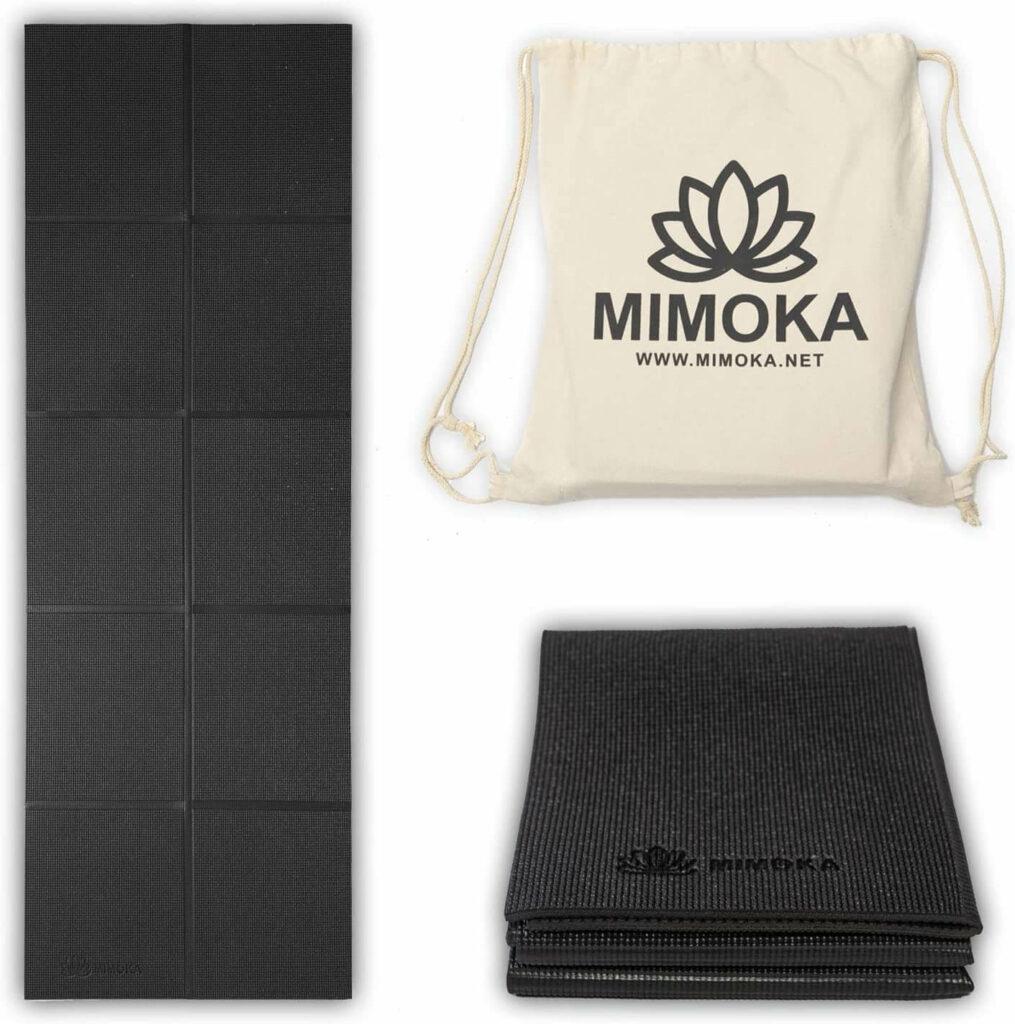Mimoka - Esterilla Yoga Antideslizante Gruesa Plegable